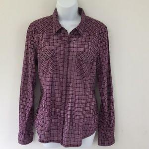 Converse Womens Western Shirt Sz L Snap Buttons